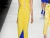 Вечерние платья 2012 длинные синие с желтым от Ruffian