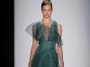 Зеленое платье с асимметричным вырезом Carolina Herrera