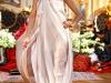 Бежевое атласное платье John Galliano