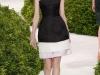Черно белое платье короткое от Christian Dior
