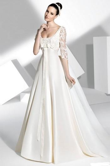 61573d75e9a7 Свадебные платья для худых и стройных девушек (44 модели)   Вечерние ...