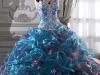 Свадебные платья голубого цвета фото