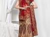 Индийское сари красное