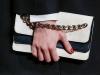 Черно-белый клатч к черному платью, Valentino