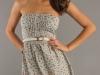 Короткое летнее платье без лямок