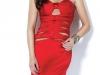 Красное платье без бретелек