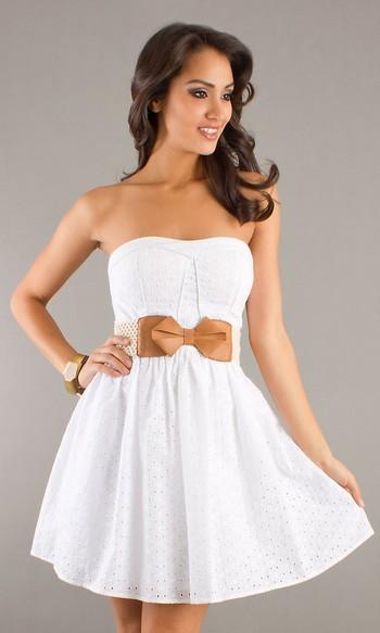 6970c8c5e88 Короткие летние платья без бретелек 2012 (фото)