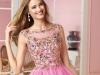 Короткое розовое платье на выпускной 2014 фото