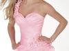 Розовое короткое платье на выпускной 2012