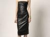 Платье-футляр кожаное