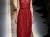 Красное кружевное длинное платье 2012 от Валентино