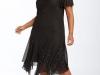 Красивое черное маленькое платье для полных фото, J Kara