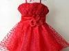 Красное платье для малышки на Новый год