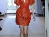 Короткое летнее платье оранжевого цвета от Andrew Gn