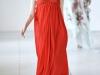 Длинное открытое платье оранжевого цвета от Antonio Berardi