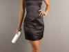 Черное платье бандо