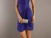 Синие вечерние платья бандо
