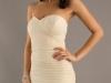 Белые вечерние платья бандо