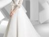 Платье для венчания со шлейфом и кружевными рукавами