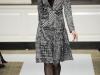 Модное платье с узором гусиная лапка осень зима 2012 2013, Oscar de la Renta