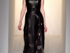 Черное платье миди из кожи Calvin Klein