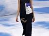 Черное платье миди с принтом Christian Dior