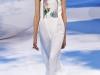 Белое платье миди Christian Dior