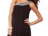 Черное вечернее платье на одно плечо