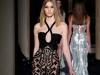Черное прозрачное платье с паетками, коллекция Versace 2014