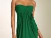 Зеленое платье тюльпан