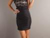 Короткое кружевное платье на 8 марта