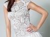 Короткое платье с перьями на 8 марта