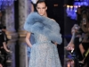 Голубое длинное платье с мехом на Новый год 2015, Elie Saab
