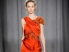 Оранжевое вечернее новогоднее платье 2015, Marchesa