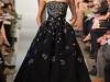 Черное пышное выпускное платье Oscar de la Renta 2013