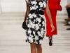 Черное-белое короткое выпускное платье в стиле ретро от Ralph Lauren 2013