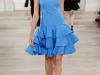 Короткое синее выпускное платье 2013 от Ralph Lauren