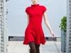 Красное вязаное платье от Киры Пластининой осень-зима 2012-2013