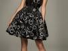 Платье с бантом короткое с пышной юбкой