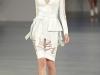 Белое платье с баской David Koma