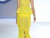 Желтое платье с баской от Vera Wang