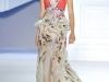 Платье с принтом и с баской от Vera Wang