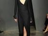 Черное вечернее платье с воротником-стоечкой, коллекция Donna Karan Осень-Зима 2012-2013