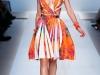 Платье с принтом и полоской от Blumarine