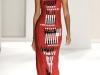 Длинное платье в полоску от Carolina Herrera