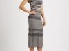 Серое шерстяное платье миди, Missoni