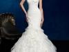 Платье-русалка с кружевным верхом фото