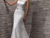 Свадебное платье с прозрачной бретелью на одно плечо