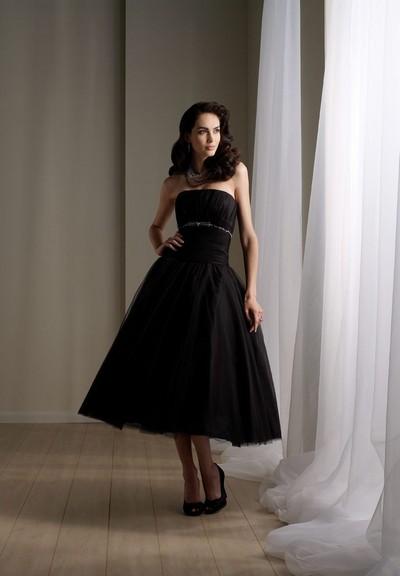 26db2be0507 Черные свадебные платья в стиле ретро короткие