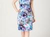 Трикотажные платья для полных с принтом
